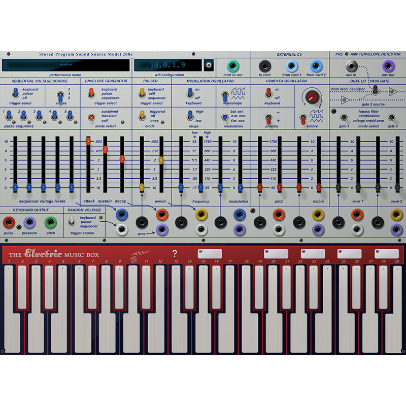 Buchla Music Easel iProgram card