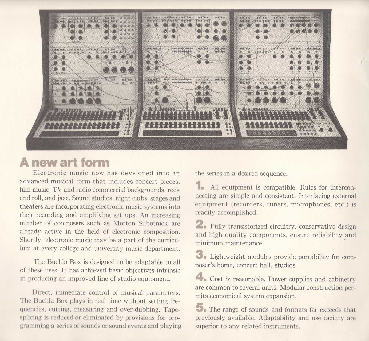 History Buchla Speech Recognition Interface Modules Circuit Sound Synthesisers Dons Inventions Are In Widespread Use By Film Composers Performance Artists Jazz Musicians Pop And Rock Improvisational Ensemblesin